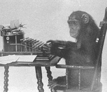 Monkey at the Typewriter